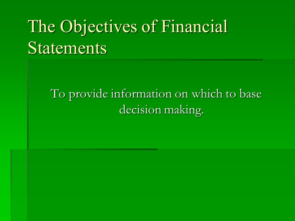 The Accounting Principles  Accounting principles: general decision rules, derived from both the objectives and the theoretical concepts of accounting, that govern the development of accounting techniques.