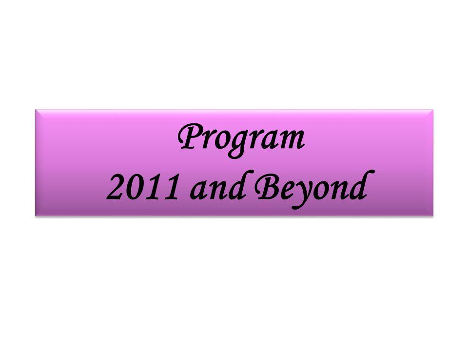 Program 2011 and Beyond