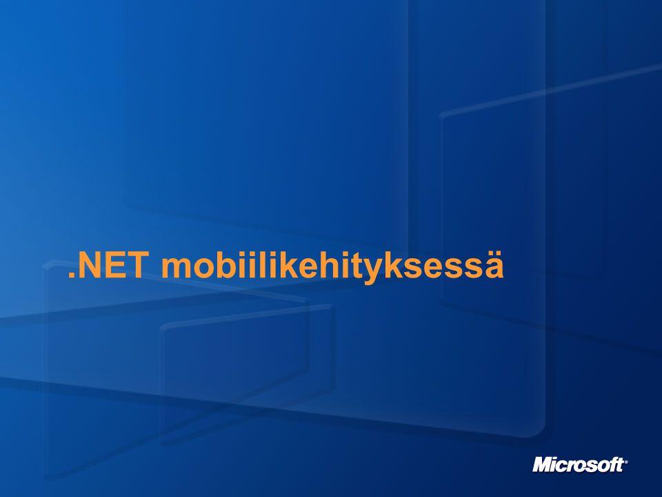 Development For Mobile Devices Development Platform Overview Local Code Remote Web Pages Visual Studio.NET.NET Framework Mobile Web Browser.NET Compact Framework Client-side Rich Apps Server-side Web Apps