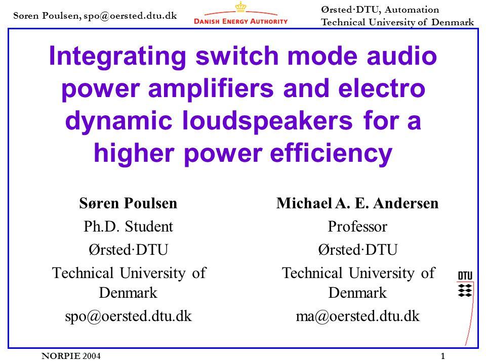 Søren Poulsen, spo@oersted.dtu.dk Ørsted·DTU, Automation Technical University of Denmark NORPIE 200412 Prototype magnetic system, FEM simulation -26 iron powder material used