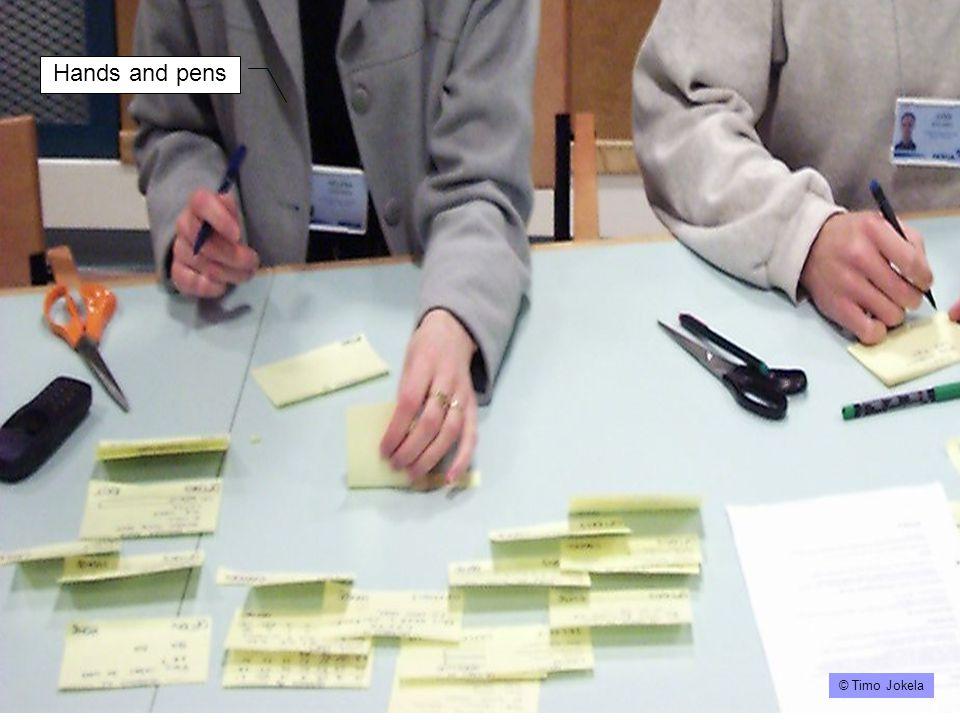 Timo's paper prototyping slideshow Design of a paper prototype started © Timo Jokela