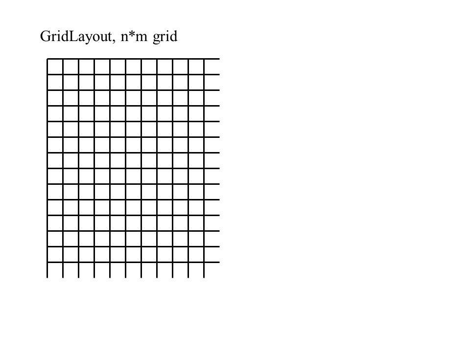 GridLayout, n*m grid