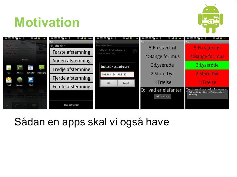Motivation Sådan en apps skal vi også have