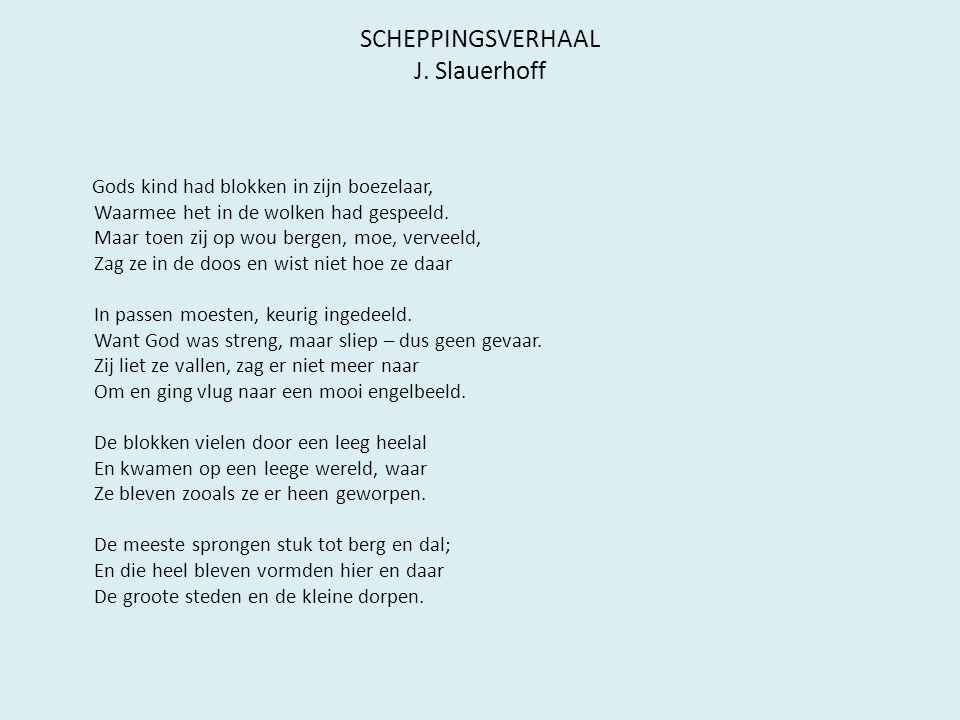 SCHEPPINGSVERHAAL J.