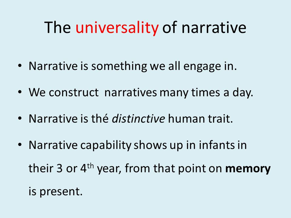 Roland Barthes, authority on narrative / myth / semiosis The narratives of the world are numberless.