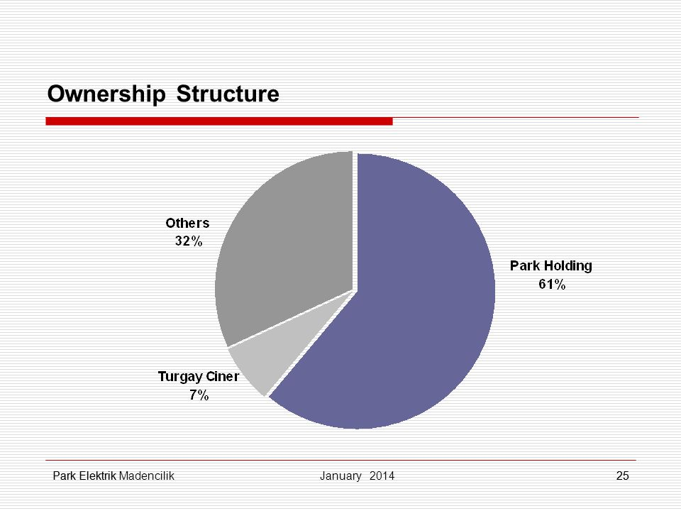 Park Elektrik25 Ownership Structure 25 January 2014 Park Elektrik Madencilik