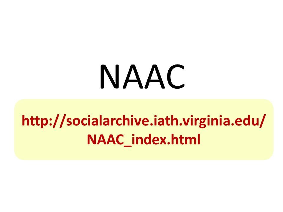 NAAC National Archival Authorities Cooperative   NAAC_index.html