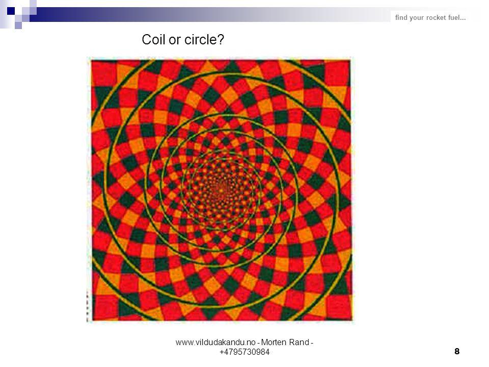 find your rocket fuel... www.vildudakandu.no - Morten Rand - +47957309848 Coil or circle?