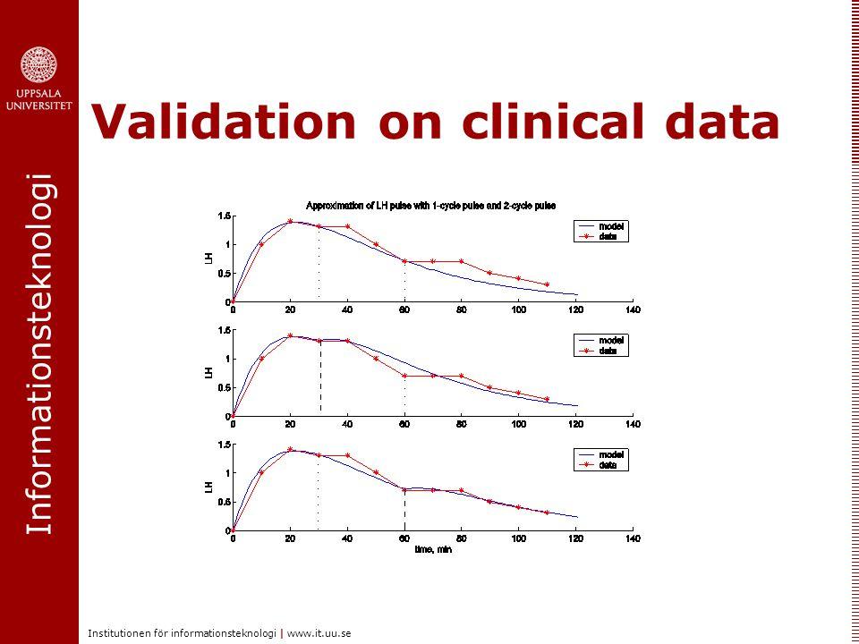 Informationsteknologi Institutionen för informationsteknologi | www.it.uu.se Validation on clinical data