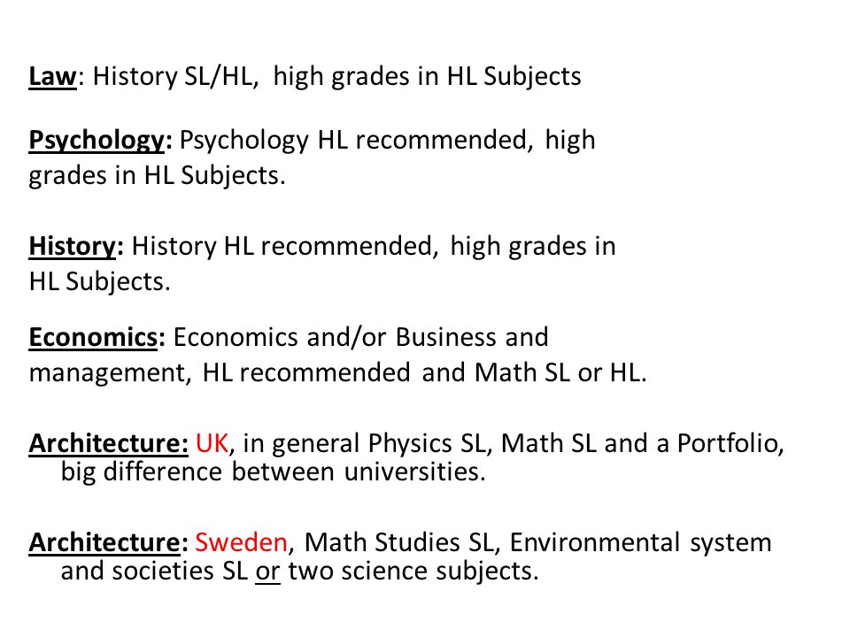 Non regular diploma Biology + Chemistry + Physics Non regular Diploma • Yes, it is possible to chose all three science subjects and no humanities subject => Non regular Diploma • It's only accepted if needed for entry requirements to universities.