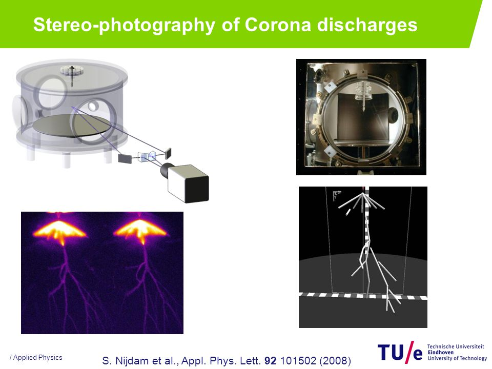 / Applied Physics Stereo-photography of Corona discharges S.