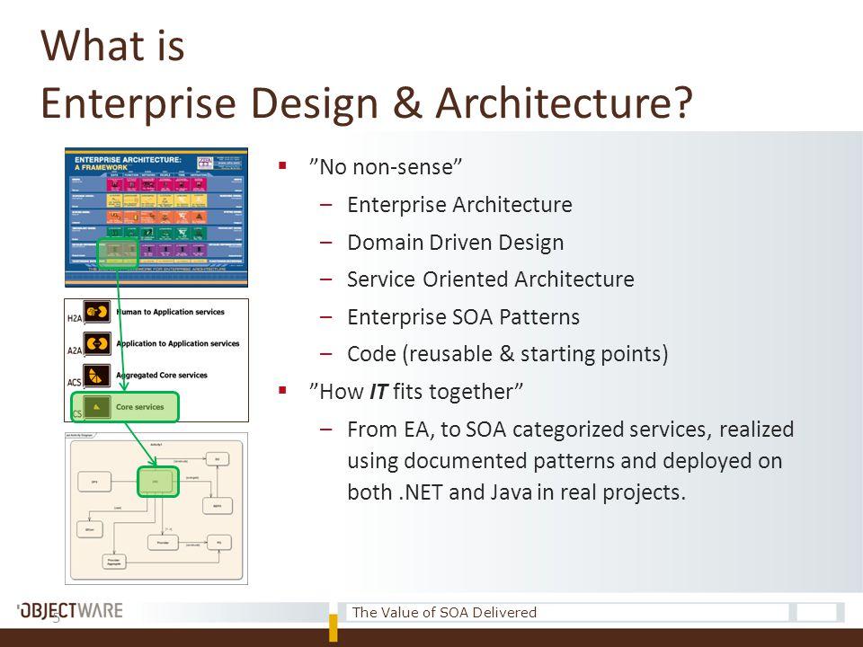 5 What is Enterprise Design & Architecture.