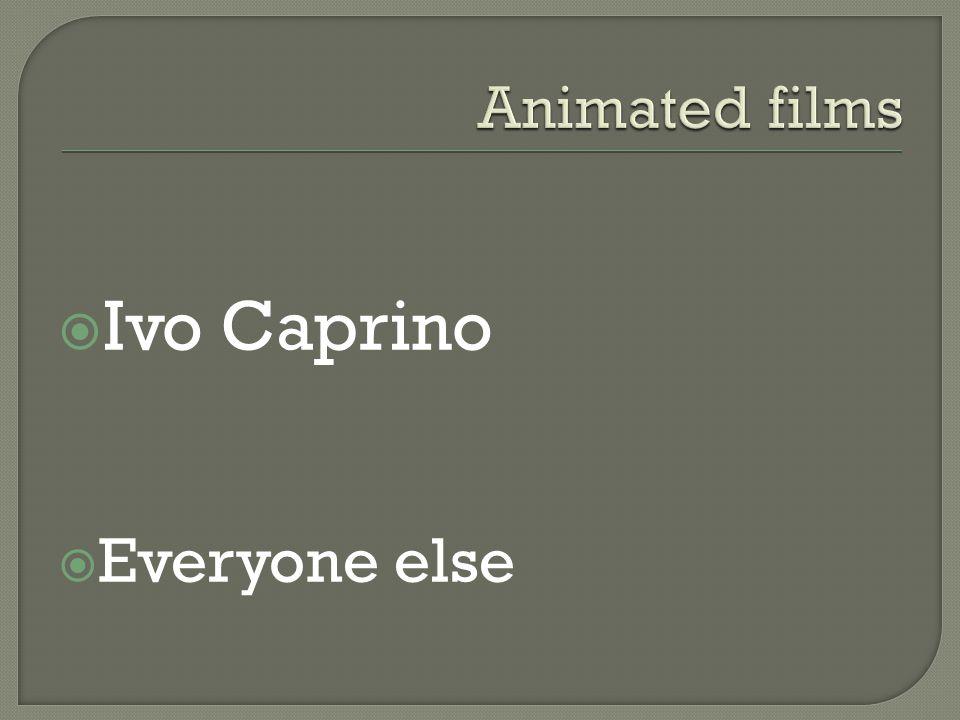  Ivo Caprino  Everyone else