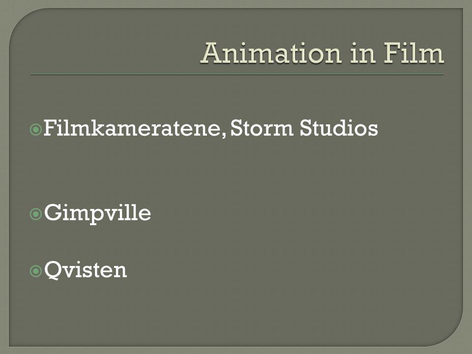  Filmkameratene, Storm Studios  Gimpville  Qvisten