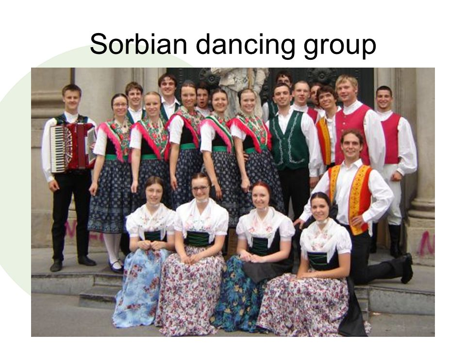 Sorbian dancing group