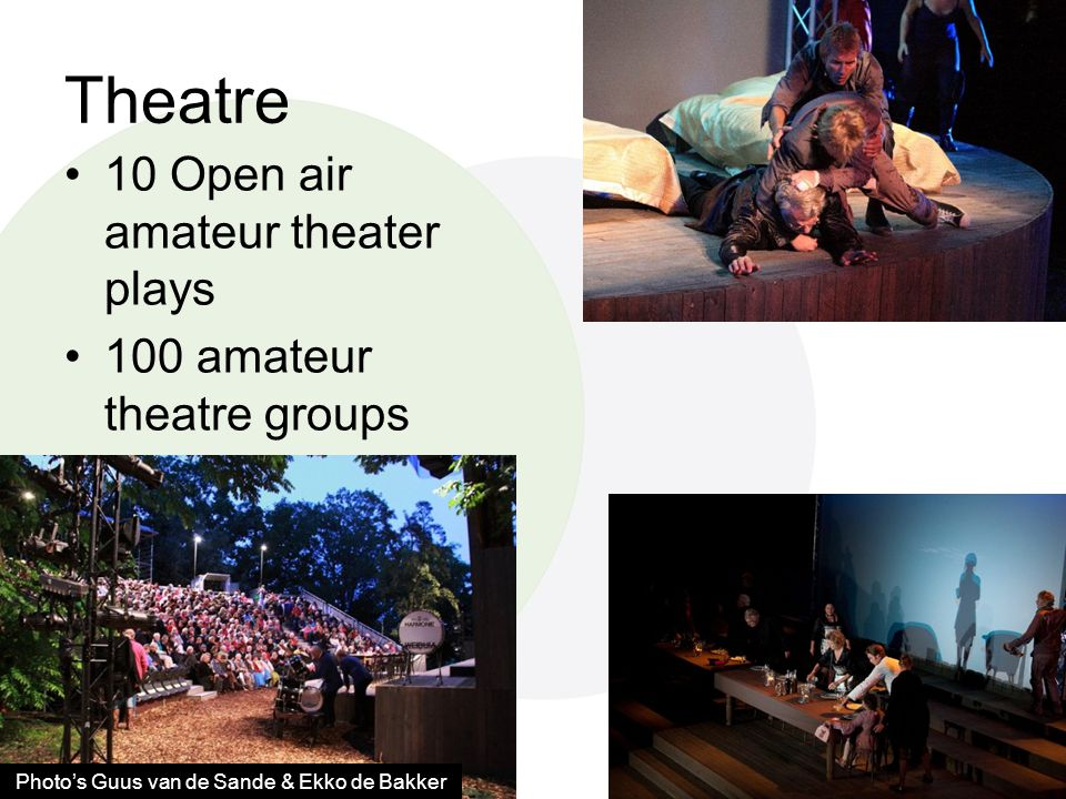 Theatre •10 Open air amateur theater plays •100 amateur theatre groups Photo's Guus van de Sande & Ekko de Bakker
