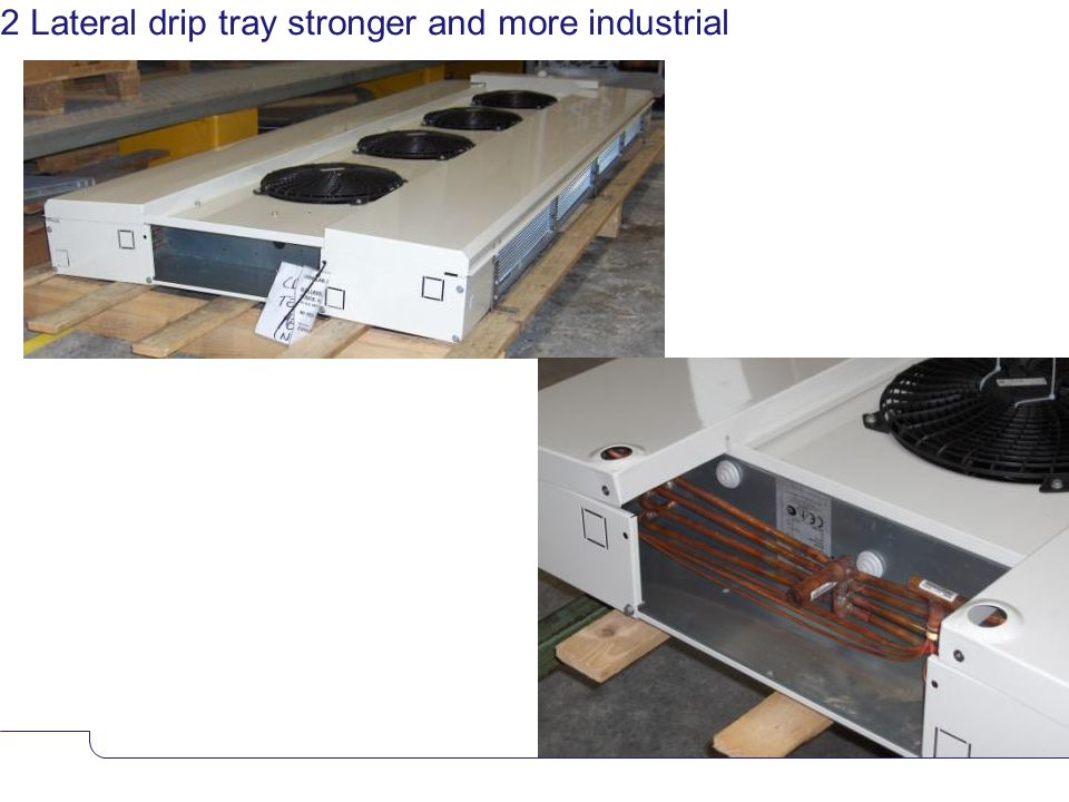 www.alfalaval.com 2 Lateral drip tray stronger and more industrial