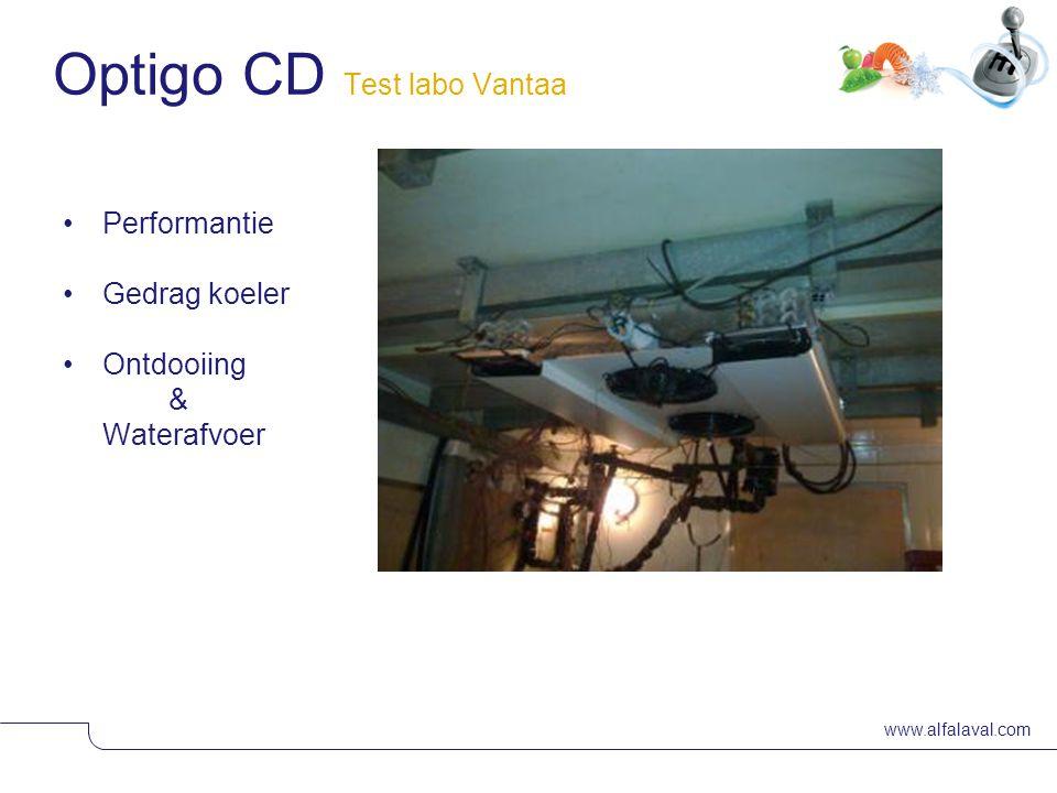 www.alfalaval.com Slide 29 •Performantie •Gedrag koeler •Ontdooiing & Waterafvoer Optigo CD Test labo Vantaa