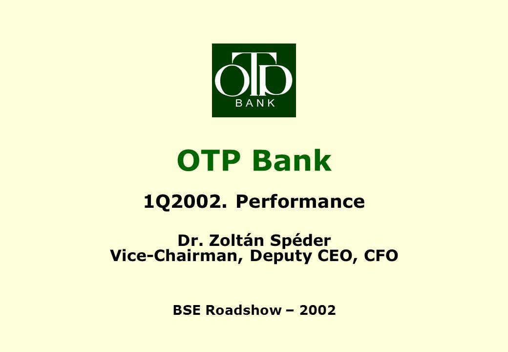OTP Bank 1Q 2002 results Bank - 2002 targets Balance sheet