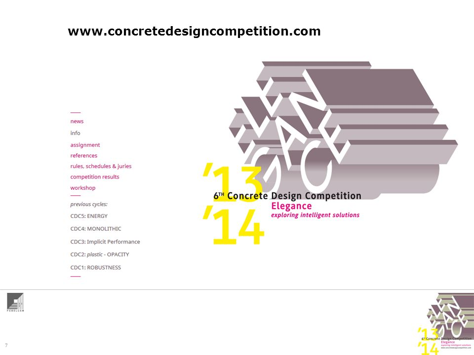 7 www.concretedesigncompetition.com