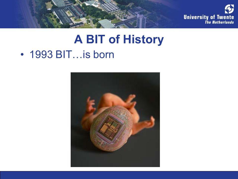 A BIT of History •1993 BIT…is born