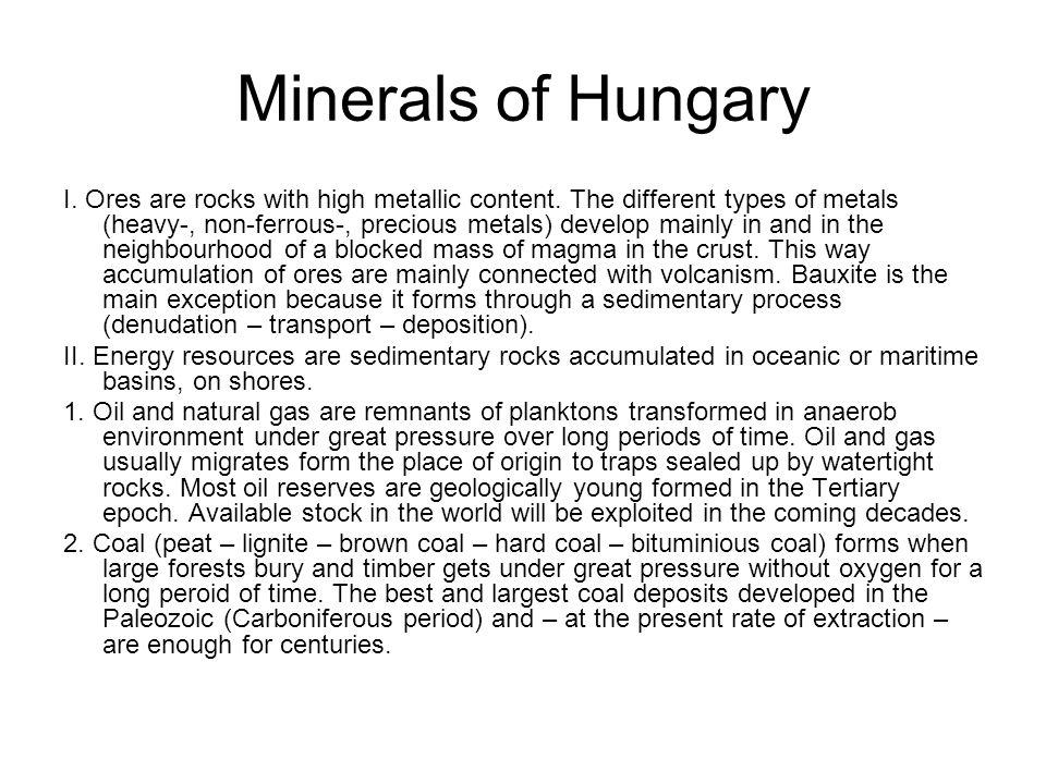 V.Natural resources of Hungary.