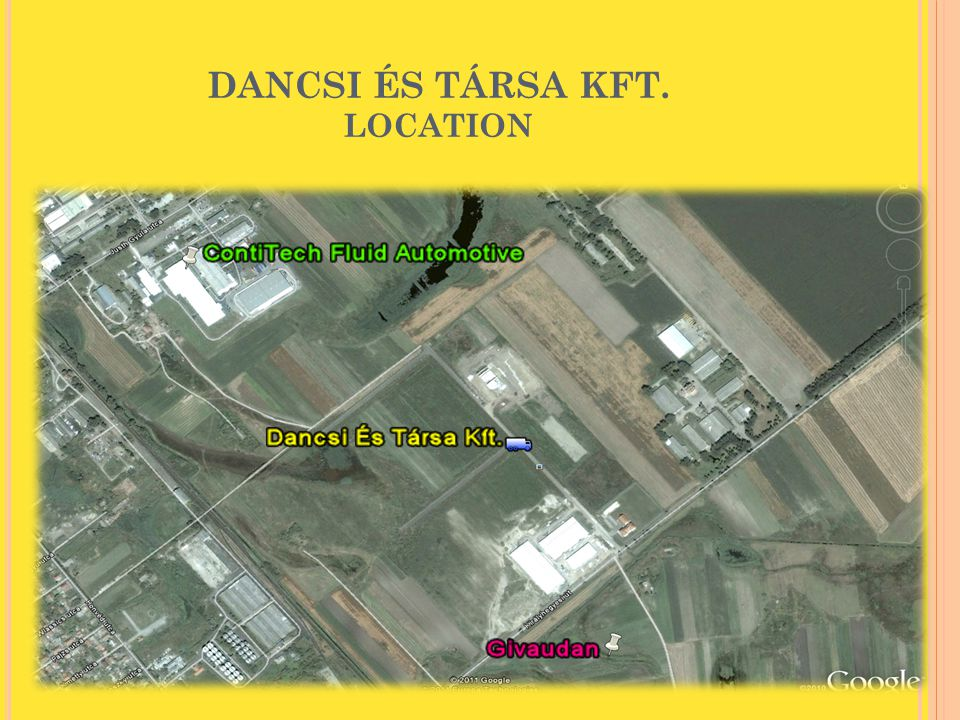 DANCSI ÉS TÁRSA KFT. LOCATION
