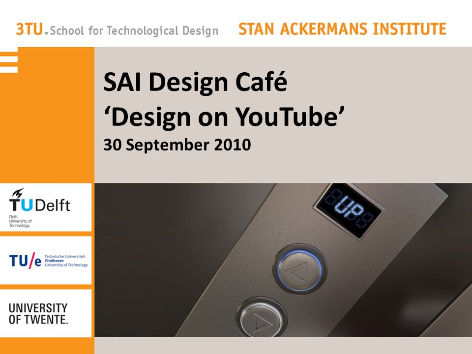 SAI Design Café 'Design on YouTube' 30 September 2010