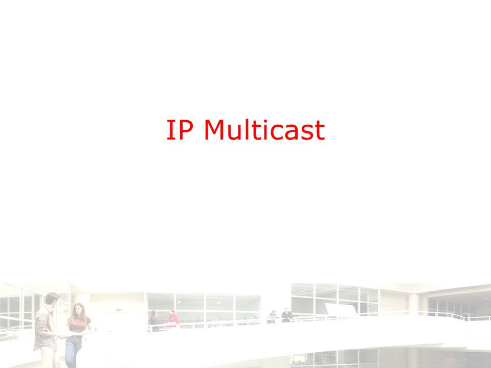 2003-2004 - Information management 2 Groep T Leuven – Information department 2/14 Agenda •Why IP Multicast .