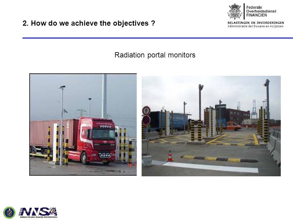 BELASTINGEN EN INVORDERINGEN Administratie der Douane en Accijnzen Radiation portal monitors 2.
