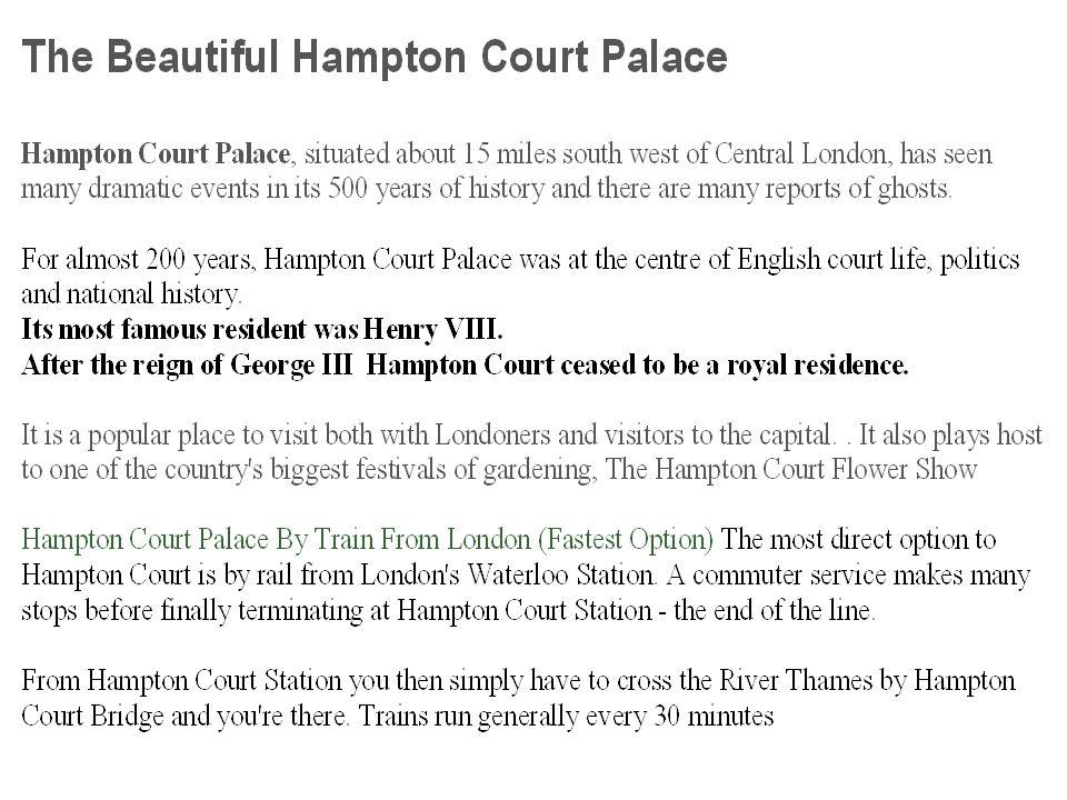 Hampton court palace – A hampton court palota