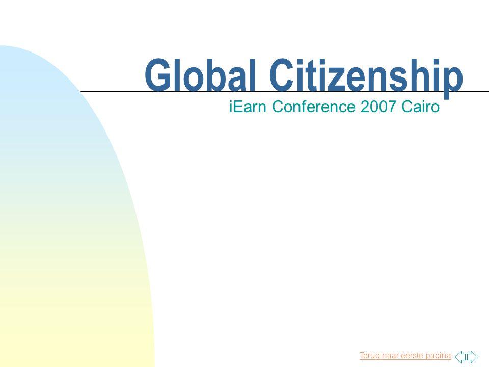 Terug naar eerste pagina Global Citizenship iEarn Conference 2007 Cairo