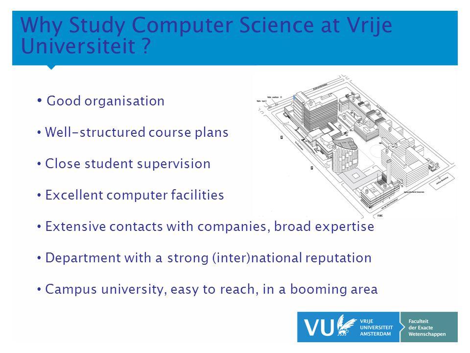 KOP OVER 2 REGELS tekst Why Study Computer Science at Vrije Universiteit .