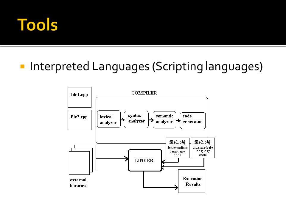  Interpreted Languages (Scripting languages)