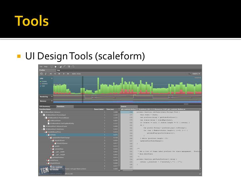  UI Design Tools (scaleform)