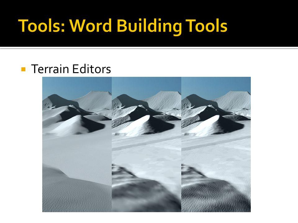  Terrain Editors