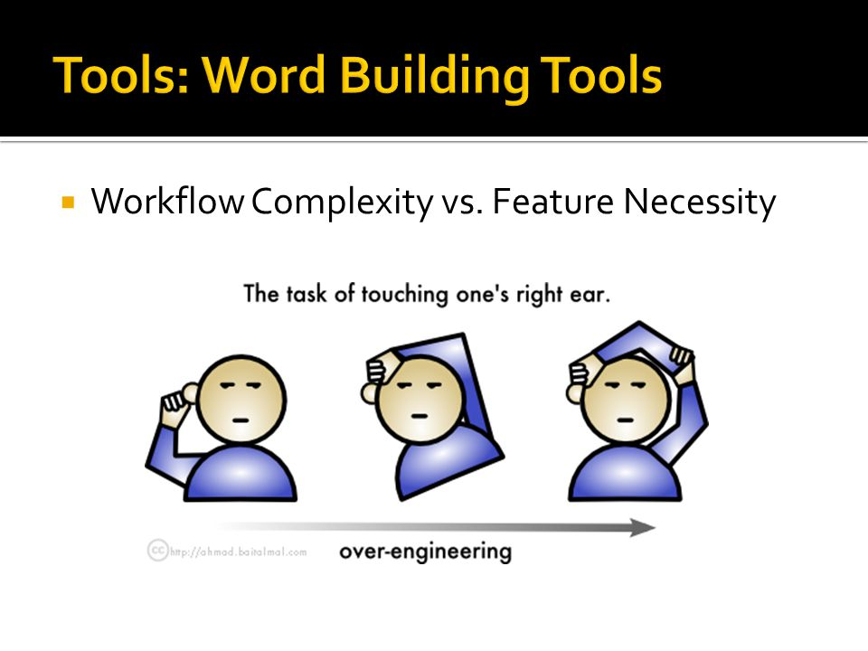  Workflow Complexity vs. Feature Necessity