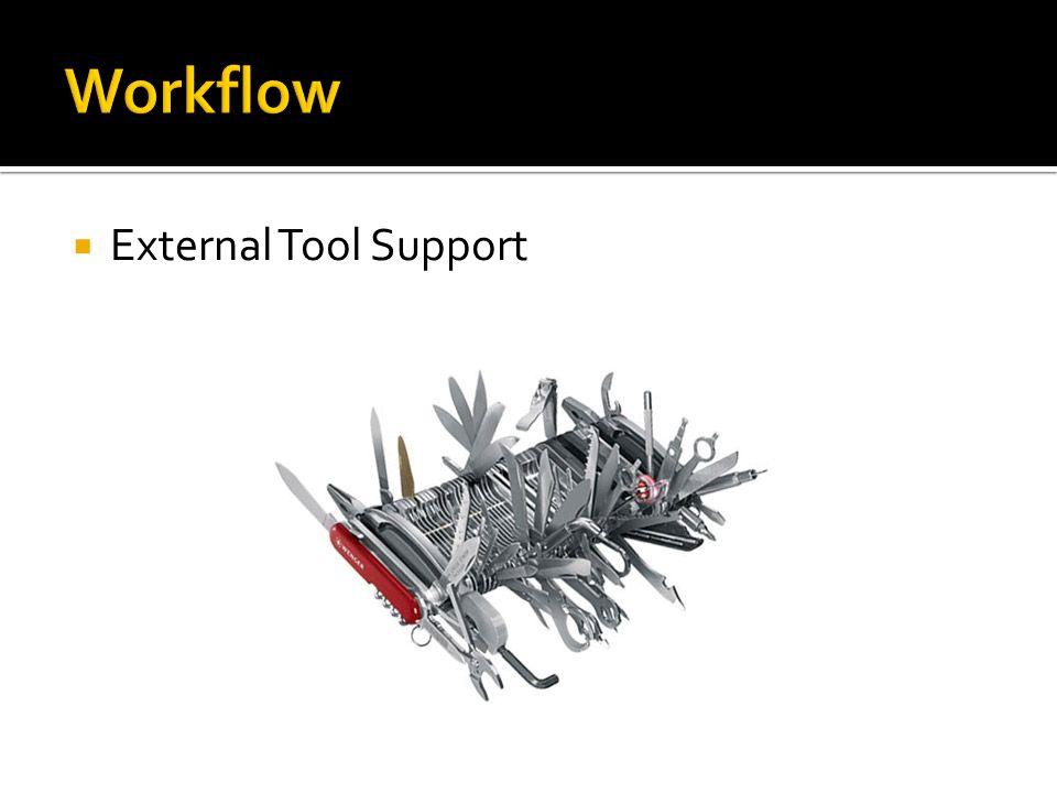  External Tool Support