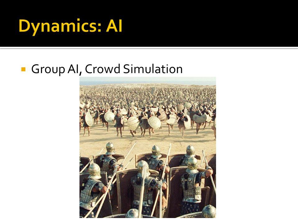  Group AI, Crowd Simulation