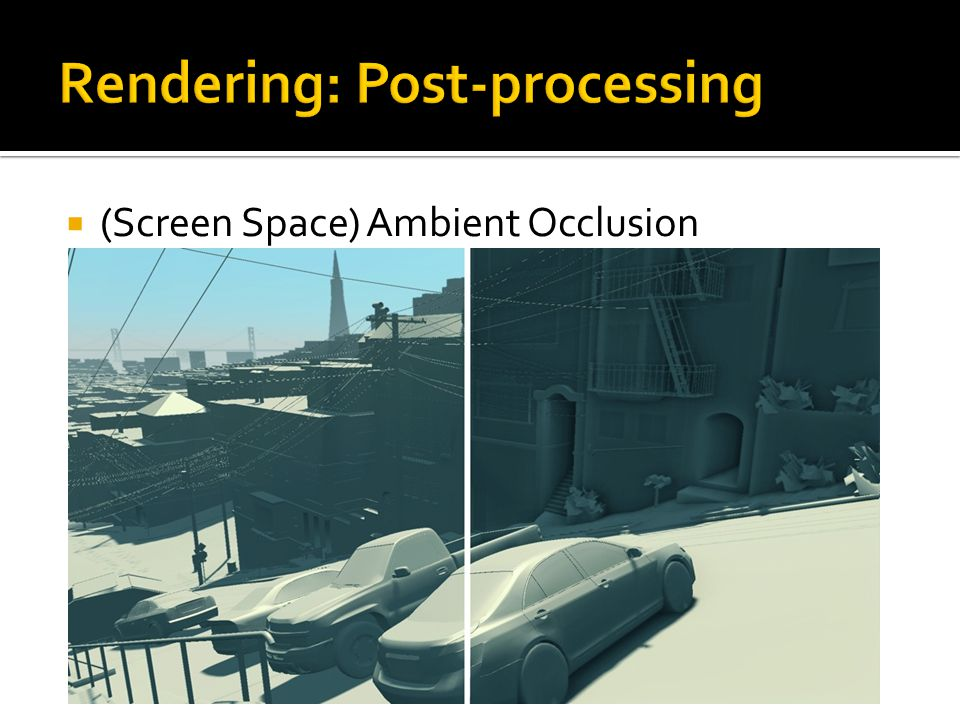  (Screen Space) Ambient Occlusion