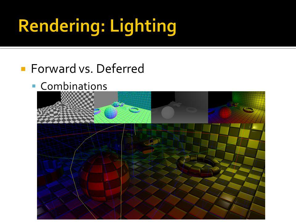  Forward vs. Deferred  Combinations