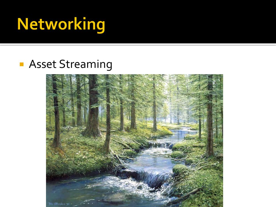  Asset Streaming