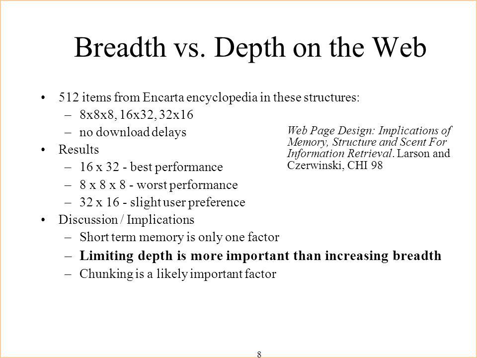 8 Breadth vs.