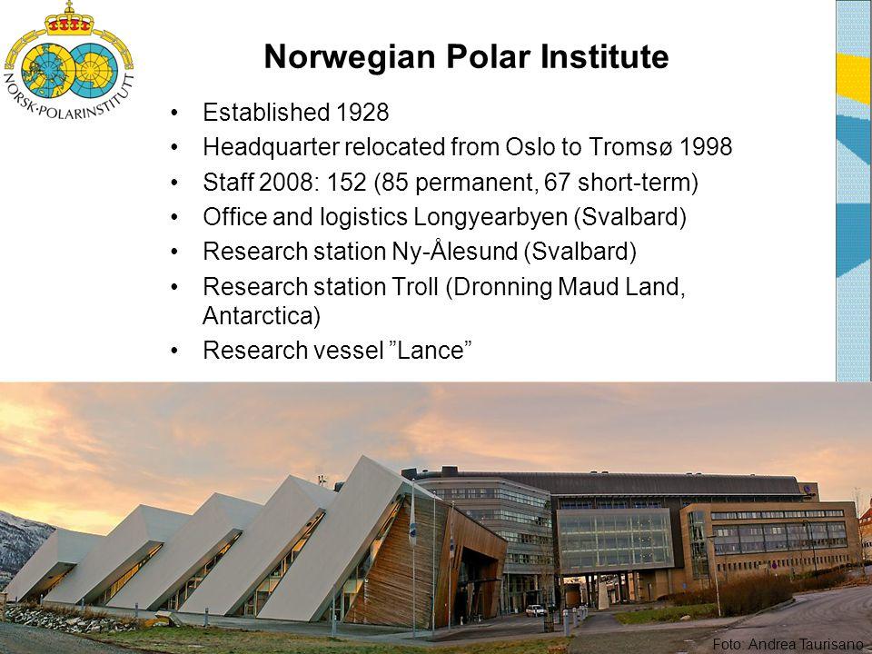 NPI research programmes •Polar Climate Programme •Ecotoxicology Programme •Biodiversity Programme •Geomapping Programme Multidiciplinary research International co-operation