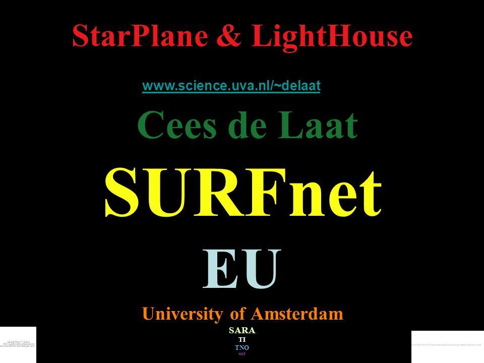 StarPlane & LightHouse Cees de Laat www.science.uva.nl/~delaat SURFnet EU University of Amsterdam SARA TI TNONCF
