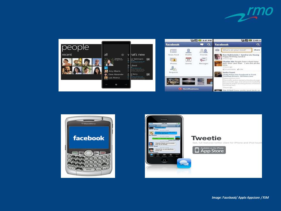 Image: Facebook/ Apple Appstore / RIM