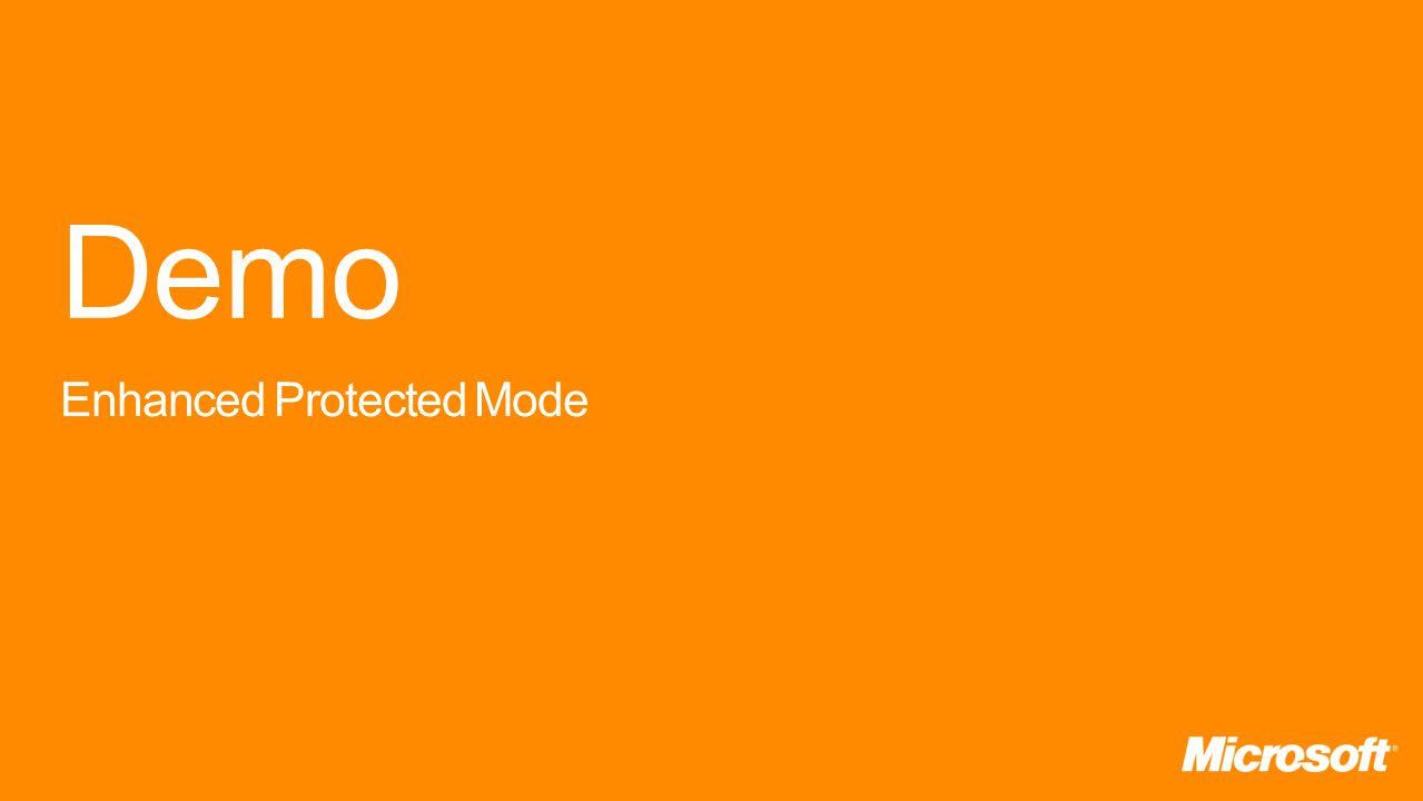 Demo Enhanced Protected Mode