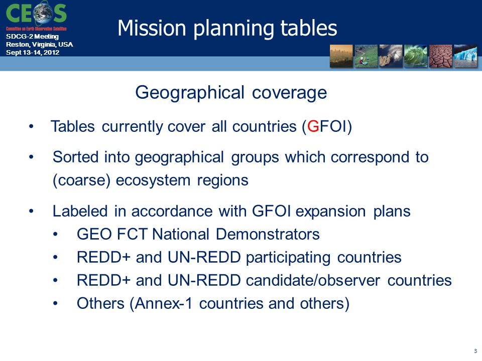 SDCG-2 Meeting Reston, Virginia, USA Sept 13-14, 2012 4 Type 1: Mission Capacity Overview Core Missions North & Central America NorthCentralCarib.