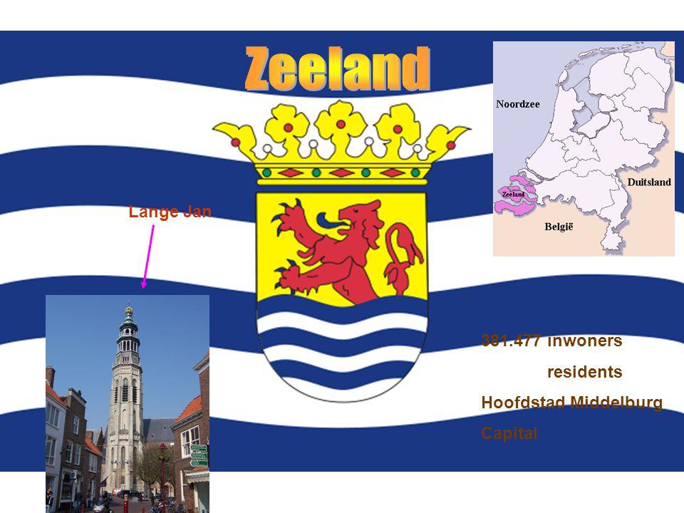 - 381.477 inwoners residents Hoofdstad Middelburg Capital Lange Jan