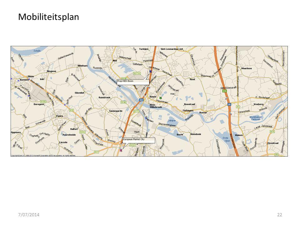 7/07/201422 Mobiliteitsplan